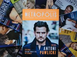 """Okładka pierwszego numeru bezpłatnego magazynu """"Metropolis"""""""