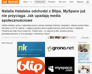 Tekst na serwisie naTemat.pl