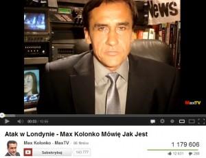 "Mariusz Max Kolonko ""MaxTV"""