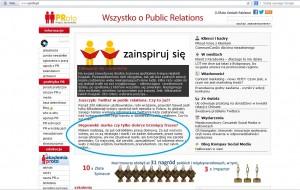 Mój tekst na stronie głównej portalu dla PR-owców PRoto.pl