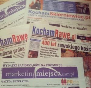 Gazety wydawane przez moje Wydawnictwo ROSTER