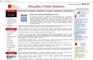 """Informacja o gazecie """"MarketingMiejsca.com.pl"""" na PRoto.pl"""