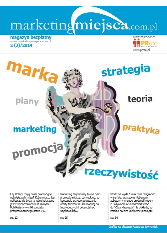 """Okładka magazynu o marketingu terytorialnym """"MarketingMiejsca.com.pl"""""""