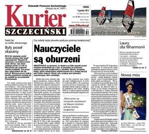 Jedynka Kuriera Szczecińskiego (9.12.2014)