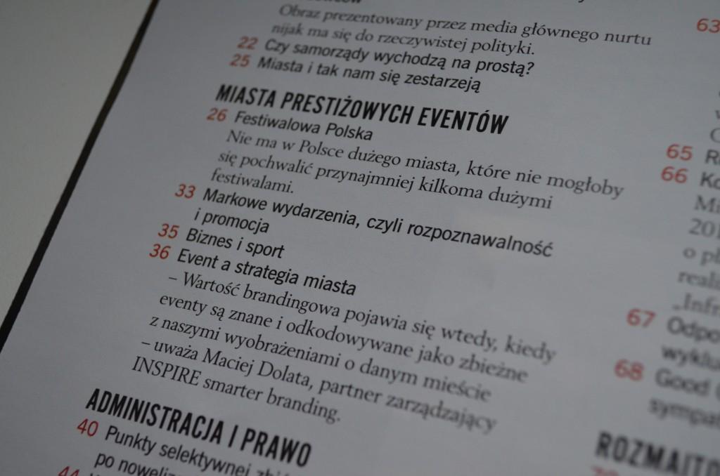 """Raport """"Miasta prestiżowych eventów""""."""