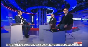 """Jarosław Kulczycki i Łukasz Warzecha """"Z dnia na dzień"""" TVP Info (7.02.2015r)"""