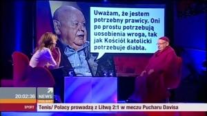 """Program """"Skandaliści"""" gościem Agnieszki Gozdyry był Jerzy Urban."""